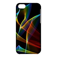 Peacock Symphony, Abstract Rainbow Music Apple iPhone 5C Hardshell Case