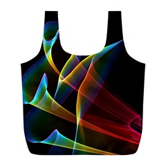 Peacock Symphony, Abstract Rainbow Music Reusable Bag (l)
