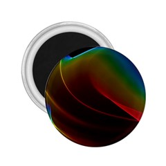 Liquid Rainbow, Abstract Wave Of Cosmic Energy  2.25  Button Magnet
