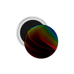 Liquid Rainbow, Abstract Wave Of Cosmic Energy  1.75  Button Magnet