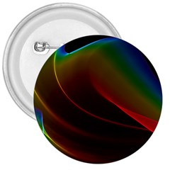 Liquid Rainbow, Abstract Wave Of Cosmic Energy  3  Button
