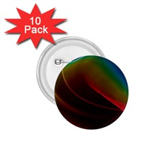 Liquid Rainbow, Abstract Wave Of Cosmic Energy  1.75  Button (10 pack)
