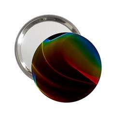Liquid Rainbow, Abstract Wave Of Cosmic Energy  Handbag Mirror (2.25 )