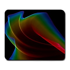 Liquid Rainbow, Abstract Wave Of Cosmic Energy  Large Mouse Pad (Rectangle)