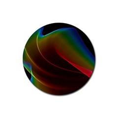 Liquid Rainbow, Abstract Wave Of Cosmic Energy  Drink Coasters 4 Pack (Round)