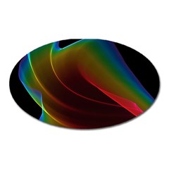 Liquid Rainbow, Abstract Wave Of Cosmic Energy  Magnet (oval)