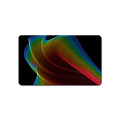 Liquid Rainbow, Abstract Wave Of Cosmic Energy  Magnet (Name Card)