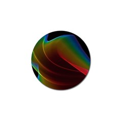 Liquid Rainbow, Abstract Wave Of Cosmic Energy  Golf Ball Marker 10 Pack