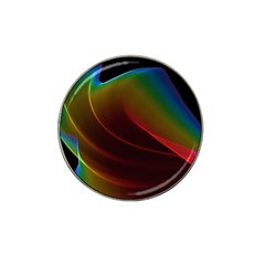 Liquid Rainbow, Abstract Wave Of Cosmic Energy  Golf Ball Marker (for Hat Clip)