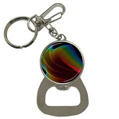 Liquid Rainbow, Abstract Wave Of Cosmic Energy  Bottle Opener Key Chain