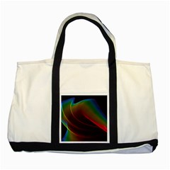 Liquid Rainbow, Abstract Wave Of Cosmic Energy  Two Toned Tote Bag