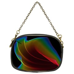 Liquid Rainbow, Abstract Wave Of Cosmic Energy  Chain Purse (two Sided)