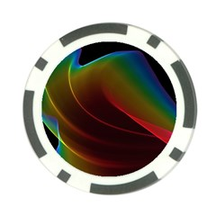 Liquid Rainbow, Abstract Wave Of Cosmic Energy  Poker Chip (10 Pack)