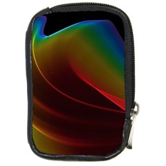 Liquid Rainbow, Abstract Wave Of Cosmic Energy  Compact Camera Leather Case