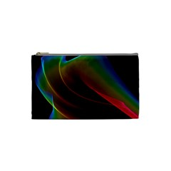 Liquid Rainbow, Abstract Wave Of Cosmic Energy  Cosmetic Bag (Small)