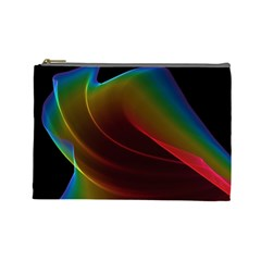 Liquid Rainbow, Abstract Wave Of Cosmic Energy  Cosmetic Bag (Large)