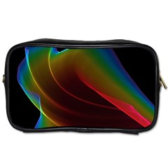 Liquid Rainbow, Abstract Wave Of Cosmic Energy  Travel Toiletry Bag (One Side)