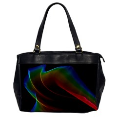 Liquid Rainbow, Abstract Wave Of Cosmic Energy  Oversize Office Handbag (One Side)