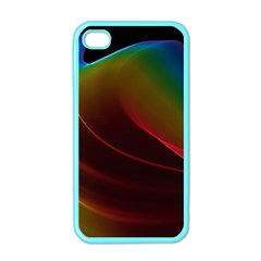 Liquid Rainbow, Abstract Wave Of Cosmic Energy  Apple iPhone 4 Case (Color)