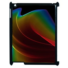 Liquid Rainbow, Abstract Wave Of Cosmic Energy  Apple iPad 2 Case (Black)