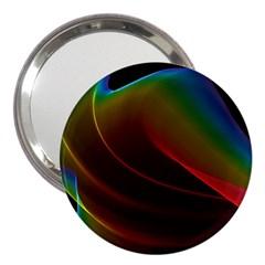 Liquid Rainbow, Abstract Wave Of Cosmic Energy  3  Handbag Mirror