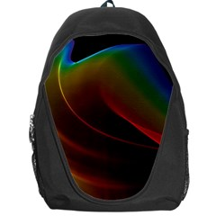 Liquid Rainbow, Abstract Wave Of Cosmic Energy  Backpack Bag