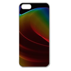 Liquid Rainbow, Abstract Wave Of Cosmic Energy  Apple Seamless iPhone 5 Case (Clear)