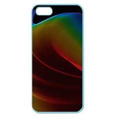 Liquid Rainbow, Abstract Wave Of Cosmic Energy  Apple Seamless iPhone 5 Case (Color)