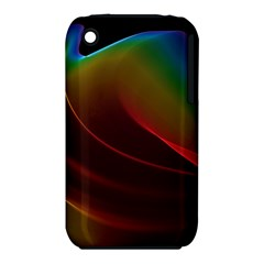 Liquid Rainbow, Abstract Wave Of Cosmic Energy  Apple iPhone 3G/3GS Hardshell Case (PC+Silicone)