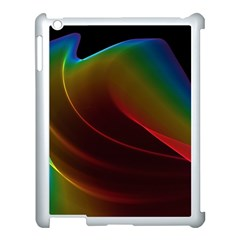 Liquid Rainbow, Abstract Wave Of Cosmic Energy  Apple iPad 3/4 Case (White)