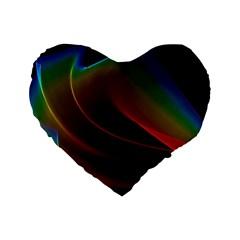 Liquid Rainbow, Abstract Wave Of Cosmic Energy  16  Premium Heart Shape Cushion