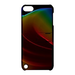 Liquid Rainbow, Abstract Wave Of Cosmic Energy  Apple Ipod Touch 5 Hardshell Case With Stand