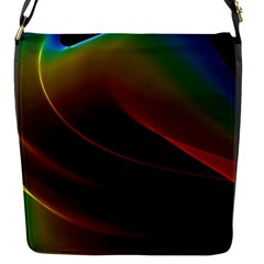 Liquid Rainbow, Abstract Wave Of Cosmic Energy  Flap Closure Messenger Bag (Small)