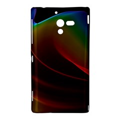 Liquid Rainbow, Abstract Wave Of Cosmic Energy  Sony Xperia ZL (L35H) Hardshell Case