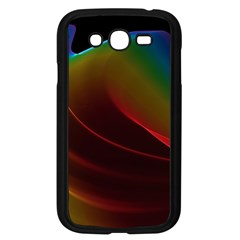 Liquid Rainbow, Abstract Wave Of Cosmic Energy  Samsung Galaxy Grand Duos I9082 Case (black)