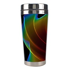 Liquid Rainbow, Abstract Wave Of Cosmic Energy  Stainless Steel Travel Tumbler