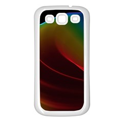 Liquid Rainbow, Abstract Wave Of Cosmic Energy  Samsung Galaxy S3 Back Case (White)