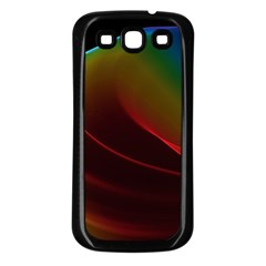 Liquid Rainbow, Abstract Wave Of Cosmic Energy  Samsung Galaxy S3 Back Case (Black)