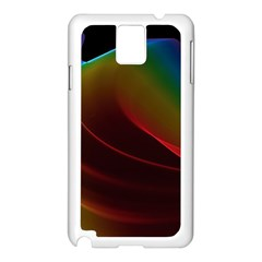 Liquid Rainbow, Abstract Wave Of Cosmic Energy  Samsung Galaxy Note 3 N9005 Case (White)