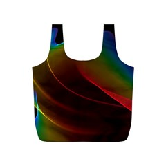 Liquid Rainbow, Abstract Wave Of Cosmic Energy  Reusable Bag (S)