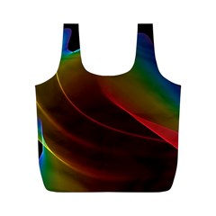 Liquid Rainbow, Abstract Wave Of Cosmic Energy  Reusable Bag (M)