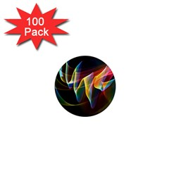 Northern Lights, Abstract Rainbow Aurora 1  Mini Button Magnet (100 pack)
