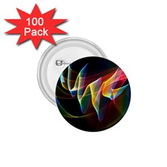 Northern Lights, Abstract Rainbow Aurora 1 75  Button (100 Pack)