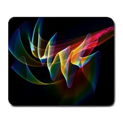 Northern Lights, Abstract Rainbow Aurora Large Mouse Pad (Rectangle)