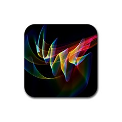 Northern Lights, Abstract Rainbow Aurora Drink Coasters 4 Pack (Square)