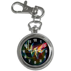 Northern Lights, Abstract Rainbow Aurora Key Chain Watch