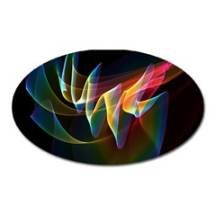 Northern Lights, Abstract Rainbow Aurora Magnet (Oval)