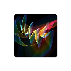 Northern Lights, Abstract Rainbow Aurora Magnet (Square)