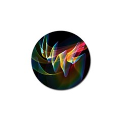 Northern Lights, Abstract Rainbow Aurora Golf Ball Marker 4 Pack