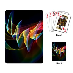 Northern Lights, Abstract Rainbow Aurora Playing Cards Single Design